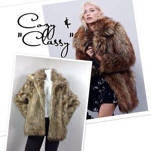 """Mink Fur """"faux"""" Jacket"""